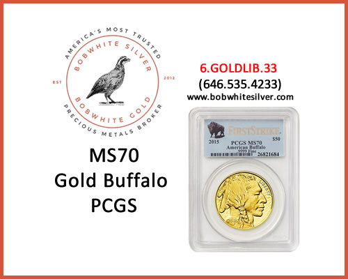 MS70-GOLD-BUFFALO-PCGS-BSBG
